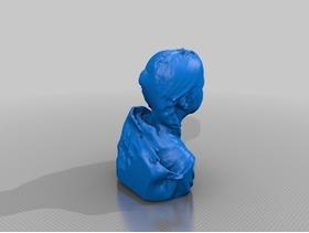 3D扫描的小女孩儿胸像